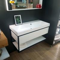 Мебель для ванной комнаты Шкафчик с умывальником FANCY MARBLE Mar 1000 + Signe (Белый)