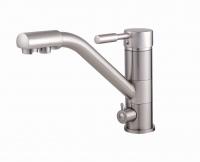 Смесители для кухни Cмеситель кухонный GLOBUS LUX Lazer GLLR-0555-8-STSTEEL (под осмос)