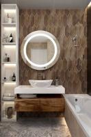 Мебель для ванной комнаты Зеркало ANDORA Maura Ø 80 LED