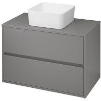 Мебель для ванной комнаты Шкафчик под умывальник CERSANIT Crea 80 (серый матовый)