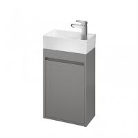 Мебель для ванной комнаты Шкафчик под умывальник CERSANIT Crea 40 (серый матовый)