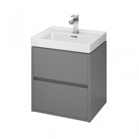 Мебель для ванной комнаты Шкафчик под умывальник CERSANIT Crea 50 (серый матовый)