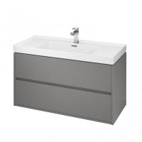 Мебель для ванной комнаты Шкафчик под умывальник CERSANIT Crea 100 (серый матовый)
