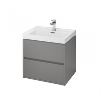 Мебель для ванной комнаты Шкафчик под умывальник CERSANIT Crea 60 (серый матовый)