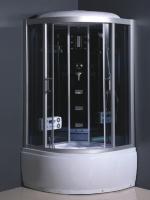 Душевые боксы (гидромассажные) Душевой бокс ATLANTIS L-508-A (GR) (110x110x218)