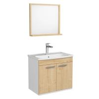 Мебель для ванной комнаты Комплект: Шкафчик с умывальником RJ First 60 + зеркало (54х50) - RJ20600OK